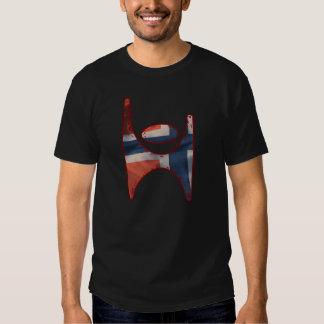 Símbolo Noruega, camiseta del humanista de Norge Playera