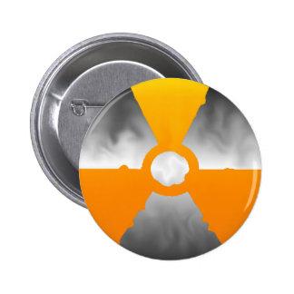 Símbolo nuclear del trébol pin redondo 5 cm