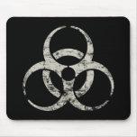 Símbolo nuclear del vintage tapete de raton