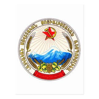 Símbolo oficial de la heráldica de Armenia del esc Postales