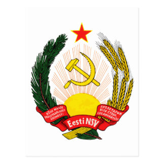 Símbolo oficial de la heráldica de Estonia del esc Tarjeta Postal