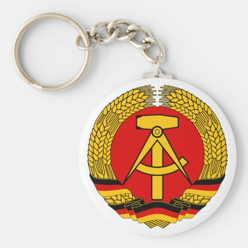 Símbolo oficial de la heráldica de la Alemania Llavero Redondo Tipo Pin