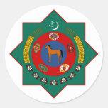 Símbolo oficial de la heráldica del escudo de arma etiqueta redonda