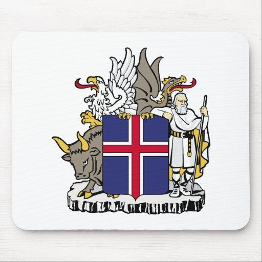 Símbolo oficial de la heráldica del escudo de arma alfombrillas de raton