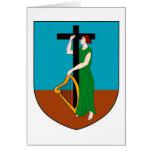 Símbolo oficial de la heráldica del escudo de arma tarjeta