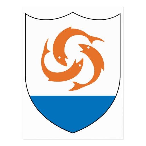 Símbolo oficial de la heráldica del escudo de arma postal
