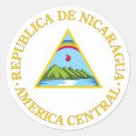 Símbolo oficial de la heráldica del escudo de pegatinas redondas