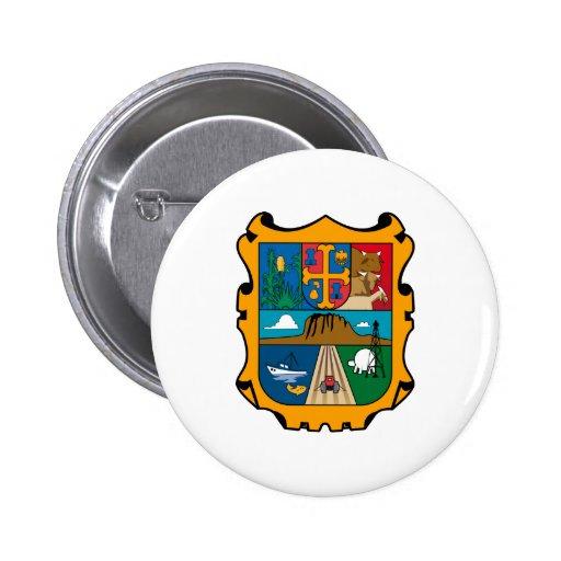 Símbolo oficial de Tamaulipas México del escudo de Pin Redondo 5 Cm