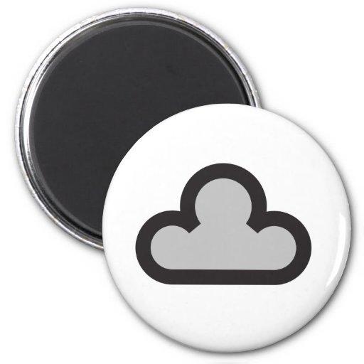 Símbolo oscuro de la nube del tiempo imán redondo 5 cm