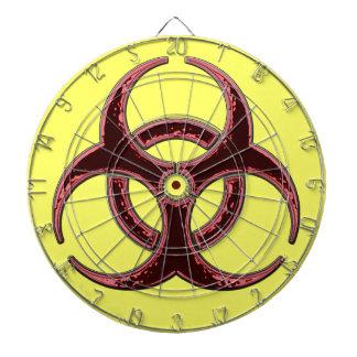 Símbolo oxidado del Biohazard Tablero Dardos