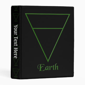 Símbolo pagano del elemento de la tierra de Falln Mini Carpeta