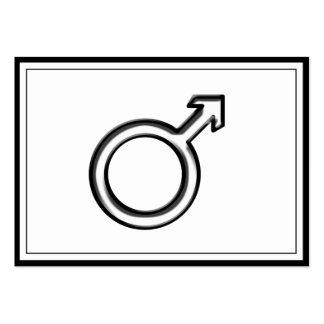 Símbolo para el varón tarjetas de visita grandes