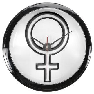 Símbolo para la hembra reloj pecera