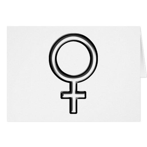 Símbolo para la hembra tarjeta de felicitación