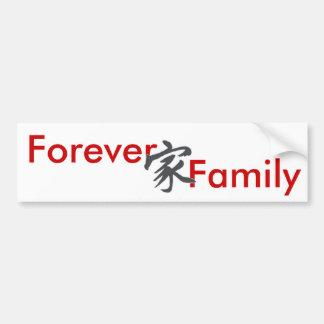 símbolo, para siempre, familia pegatina de parachoque
