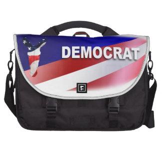 Símbolo patriótico de Demócrata Bolsas Para Portátil