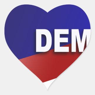 Símbolo patriótico de Demócrata Pegatina En Forma De Corazón