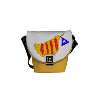 Símbolo patriótico, paloma de la libertad de bolsas de mensajeria