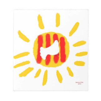 Símbolo patriótico, sol de la libertad de Cataluña Blocs