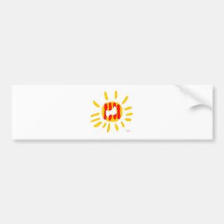 Símbolo patriótico, sol de la libertad de Cataluña Pegatina De Parachoque