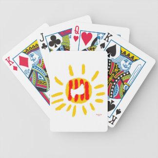 Símbolo patriótico, sol de la libertad de Cataluña Baraja Cartas De Poker
