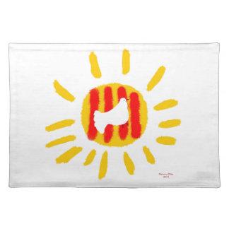 Símbolo patriótico, sol de la libertad de Cataluña Mantel Individual