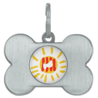 Símbolo patriótico, sol de la libertad de Cataluña Placa De Mascota