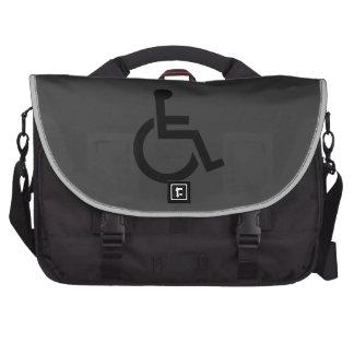 Símbolo perjudicado internacional bolsas para portatil