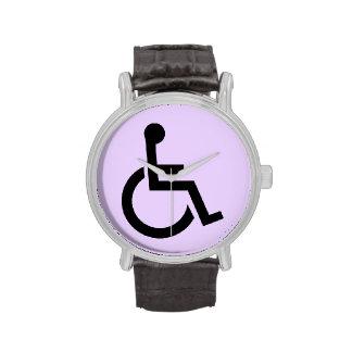 Símbolo perjudicado reloj de mano