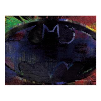 Símbolo pintado del palo tarjeta postal