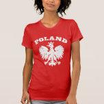 Símbolo polaco de Eagle del orgullo de las mujeres Playera