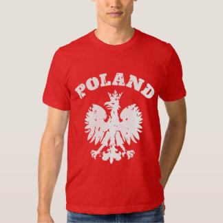 Símbolo polaco de Eagle del orgullo de los hombres Playera