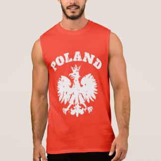 Símbolo polaco de Eagle del orgullo de los hombres Playera Sin Mangas