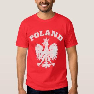 Símbolo polaco de Eagle del orgullo de los hombres Polera