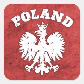 Símbolo polaco de Eagle del orgullo Pegatina Cuadrada