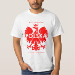 Símbolo polaco de Polonia Rzeczpospolita Polska Camisas