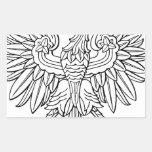 Símbolo polaco pegatina rectangular
