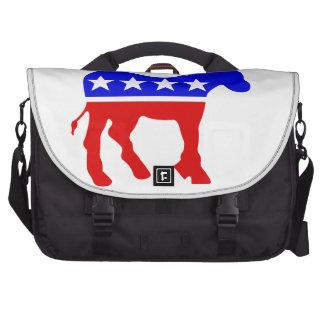 Símbolo político del burro de Demócrata Bolsas Para Portátil