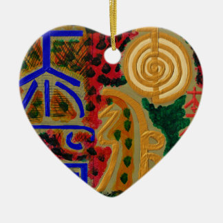 Símbolo principal de ReikiHealingArt Ornamento Para Arbol De Navidad
