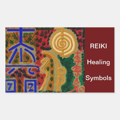 Símbolo principal de ReikiHealingArt Pegatina Rectangular