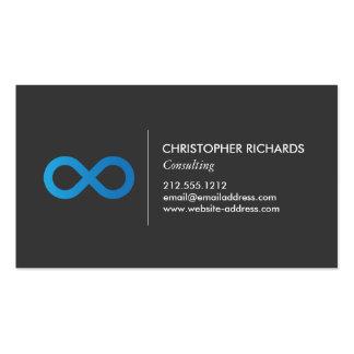 Símbolo profesional del infinito en azul tarjetas de visita