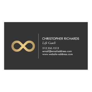 Símbolo profesional del infinito en falso oro tarjetas de visita