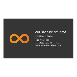 Símbolo profesional del infinito en naranja tarjetas de visita