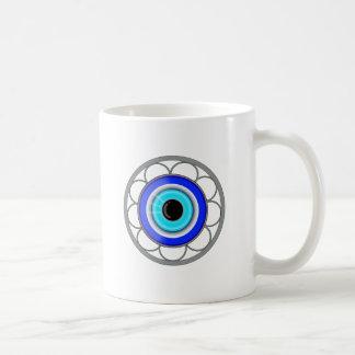 Símbolo protector del mal de ojo turco - taza básica blanca