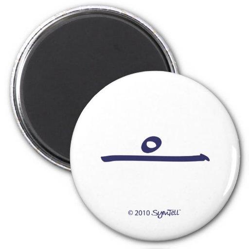 Símbolo púrpura de la dicha de SymTell Imanes