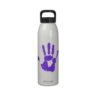 Símbolo púrpura de los derechos de los homosexuale botellas de agua reutilizables