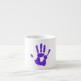 Símbolo púrpura de los derechos de los taza espresso