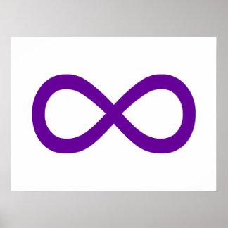 Símbolo púrpura del infinito póster