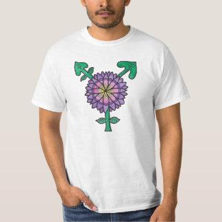 Símbolo púrpura del transexual de la flor camisas