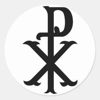Símbolo PX de Cristo Pegatina Redonda
